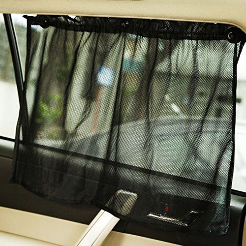 VIPASNAM-2pc Car Sun Shade Side Nylon Mesh Window Curtain Foldable Sunshade UV - Springs Colorado Outlet