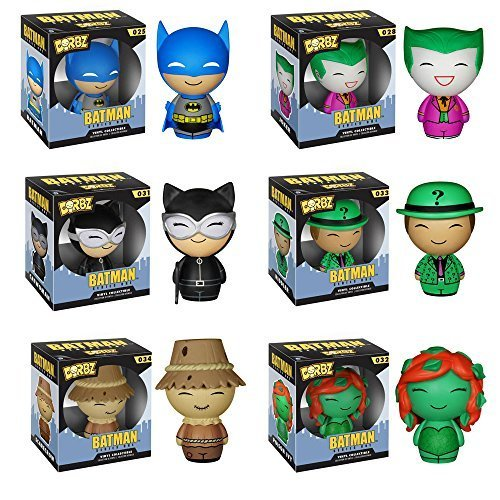 Dorbz: Batman Blue Suit, The Joker, Black Suit Catwoman, Riddler, Scarecrow, Poison Ivy Set of 6