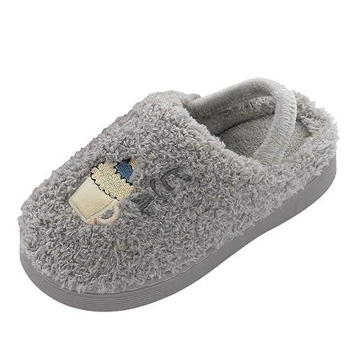 Zapatillas de Estar por Casa Unisex Niños Calentar Zapatos ...