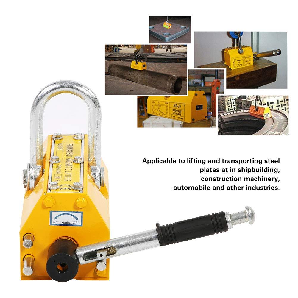 Im/án de elevaci/ón resistente del alzamiento de la gr/úa del levantador magn/ético permanente de acero 600KG