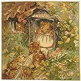 Cushion - Tapestry Fabric, French, Elegant & Fine - (Artist, Beatrix Potter) - Miss Dormouse