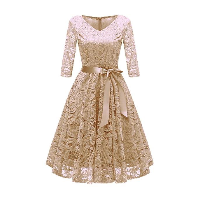 4fc879d43 Mujer Encaje Vestido Vintage 1940s Primavera Coctel Fiesta Ropa ...