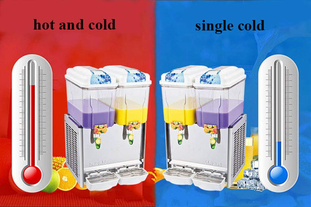 CGOLDENWALL Commercial Beverage Machine Automatic Juice Dispenser Stainless Steel Beverage Machine Cold&Hot Drink Machine Cold Beverage Machine Beer Machine 12L Single/Double/Three Tanks (Two Tanks, Single Cold) by CGOLDENWALL (Image #2)