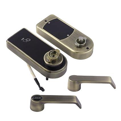 Homyl Código Electrónico Cerradura de Puerta de Tarjeta RFID Cerradura de Contraseña Cerradura de Pantalla Táctil
