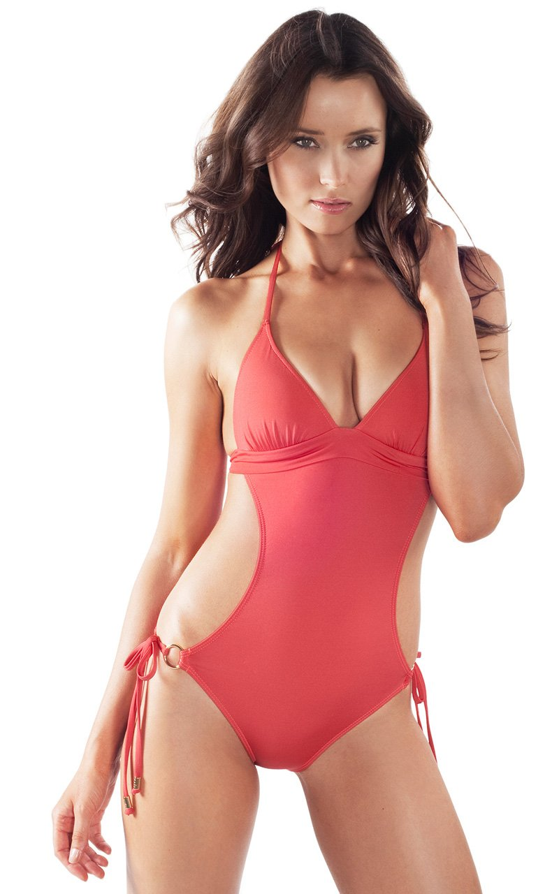 Voda Swim Women's Envy Push Up Monokini M Grapefruit
