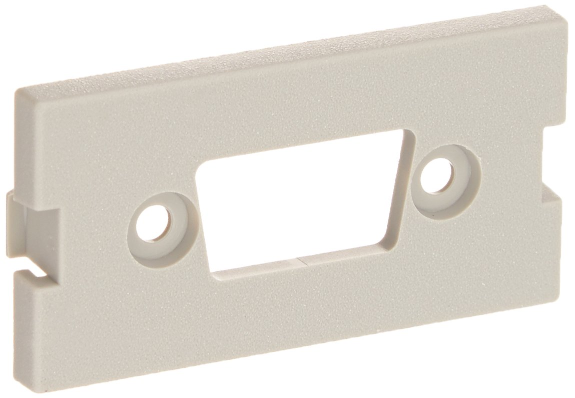 Hubbell IMBDS1GY iSTATION Module D-Sub Opening HUBIMBDS1GY Pack of 10 Unloaded 1 Unit Surface Mount Gray