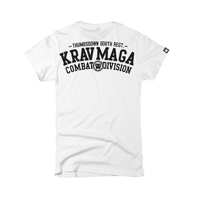 Thumbsdown PULGARES Down Krav Maga CAMISETA COMBAT dyvision. MMA. Gimnasio entrenamiento. Marcial Artes Informal aOW9E