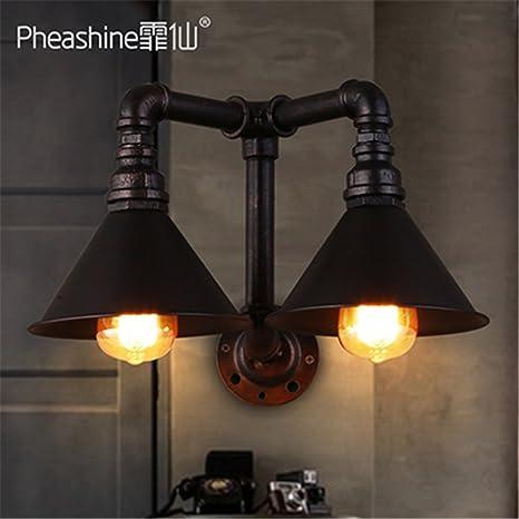 GGRXA Vintage Candelabro lámpara de pared estilo industrial lámpara de pared Lámpara de pared retra negra