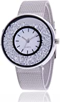 Loweryeah Male and Female Stainless Steel Quartz Watch Simple and Elegant Large Dial