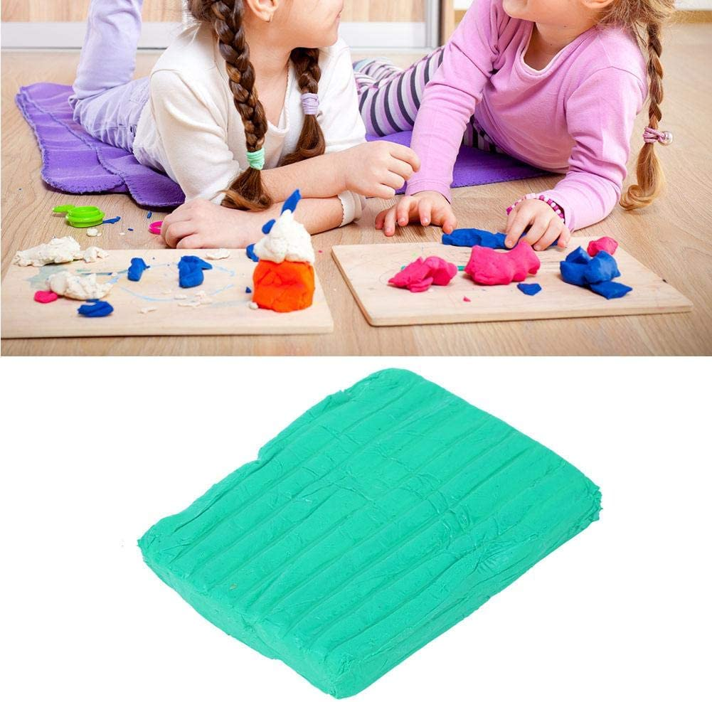 Soft Ceramics Polymer Clay DIY Craft Modeling Colorful Clay Sculpture Block for Kids Students Blue Colored Blocks Polymer Clay