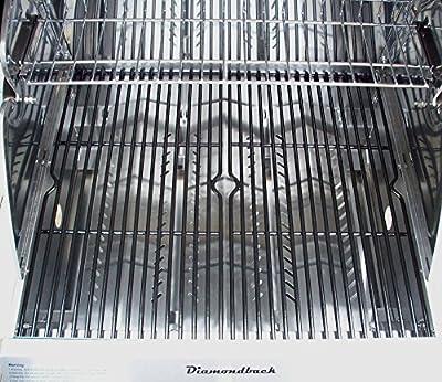 "DiamondBack Built-in Grill 3 Burner Propane LP Natural Gas 22"" Drop Stainless NG"