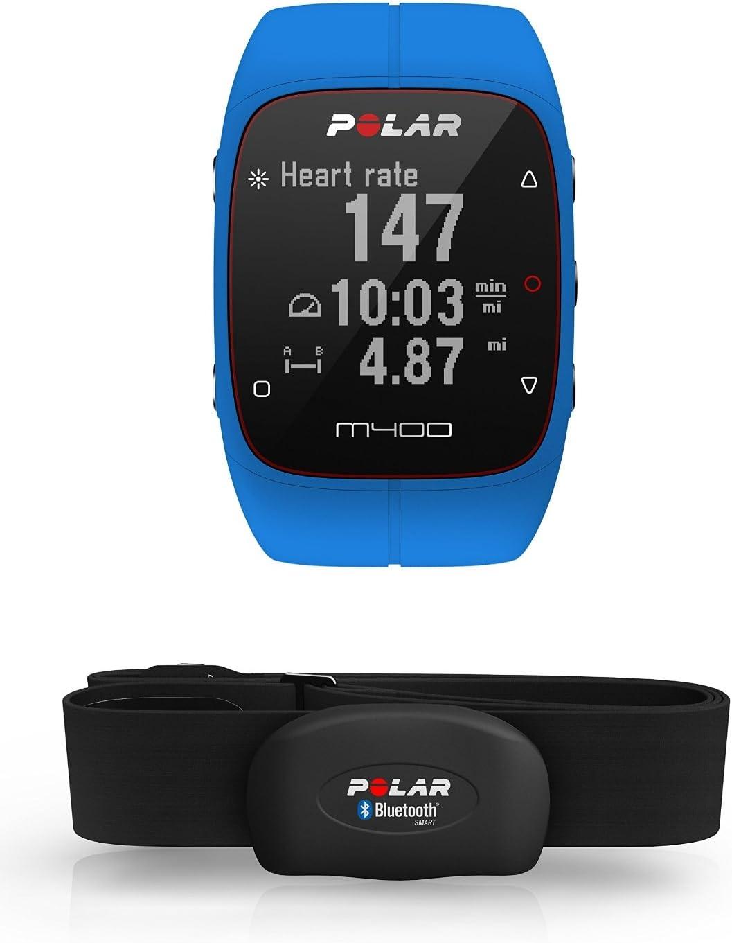 Polar M400 Hr Gps Laufuhr Blue 90061177 Sport Freizeit