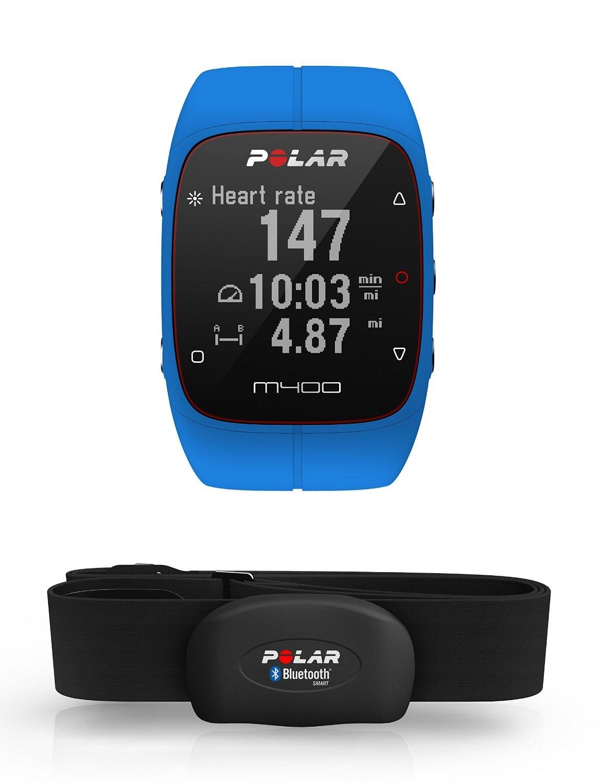 Polar M400, Orologio GPS con Fascia Cardio Bluetooth Smart Adulto Unisex, Blu, M product image