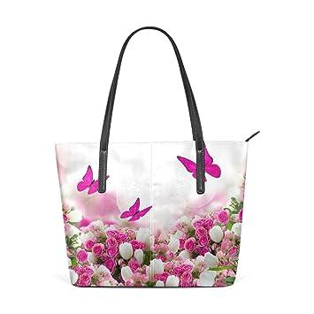 COOSUN Mariposas Rosas Flores de los Tulipanes de la PU de ...