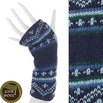 Amazon.com: Wool Fingerless Gloves with Thumbhole Fleece