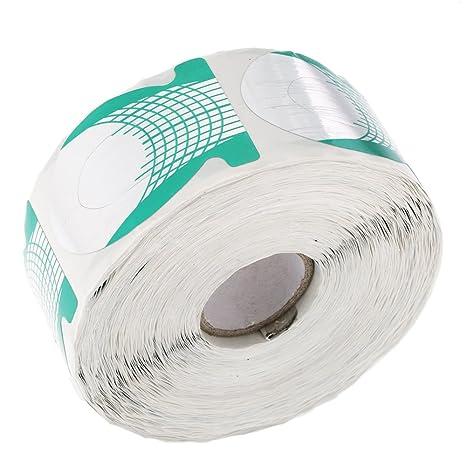 Anself 500 Pcs/Roll Moldes Guías Pegatinas Formas Para Uñas de Gel UV Extensiones (