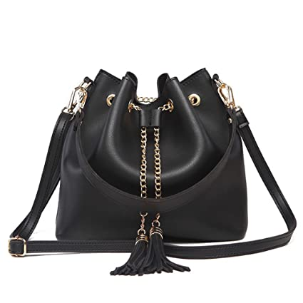 b54fa816b32b Image Unavailable. Image not available for. Color  Toniker Crossbody Bags  for Women Small Leather Drawstring Bucket Bag ...