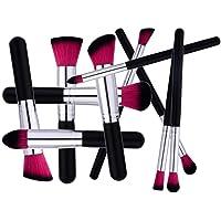 Pinceaux de maquillage 10 pièces Brosse de Maquillage Professionnel synthétique Fusion de fond de teint Concealer Eye visage liquide Poudre crème Cosmétique Pinceaux kit