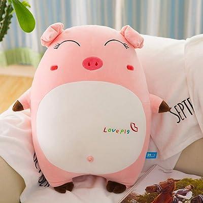 YEARYOWN Juguete de Peluche súper Suave Cerdo Gordo muñeca Creativa Almohada para Dormir expresión Cerdo Regalo de cumpleaños Navidad,Style2,50CM: Deportes y aire libre