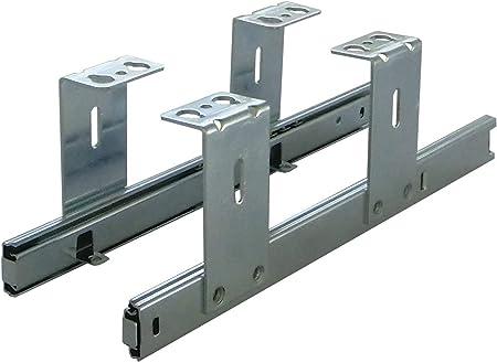 FIX/&EASY Coulisses de clavier roulement /à billes 500mm glissi/ère galvanis/é pour tablettes ou tiroir assemblage sous la table