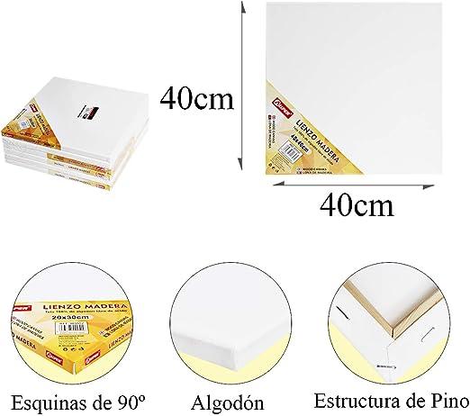 Pack de 4 lienzos 40 x 40 cm de 100% algodón apto para óleo ...