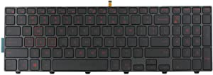 AUTENS Replacement Keyboard for Dell Inspiron 15 5000 5542 5543 5545 5547 5548 5551 5552 5555 5557 5558 5559 5566 5576 5577 Laptop (Red Backlight)