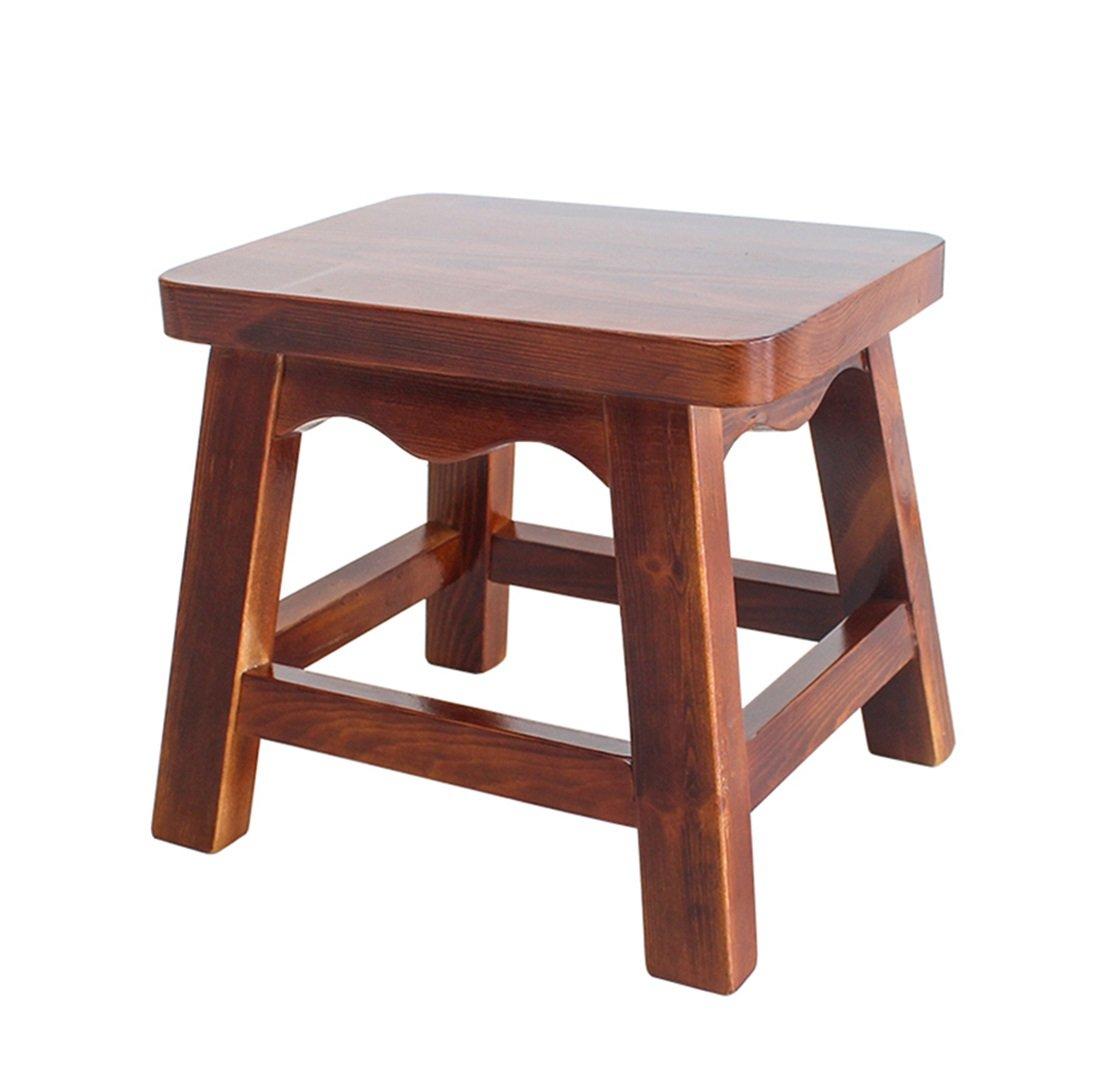 Xin-stool Solid wood stool/leisure stool/Square stool/Wood stool/sofa stool/table stool/Shoes bench/Creative bench/Living room stool/Children's stool/Footrest stool/Bedroom Stool (233027cm)