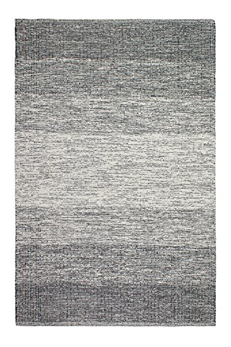 Fab Habitat Reversible Cotton Area Rugs   Rugs for Living Room, Bathroom Rug, Kitchen Rug   Machine Washable   Lucent - Black   3' x 5' (Dhurrie Area Cotton Rugs)