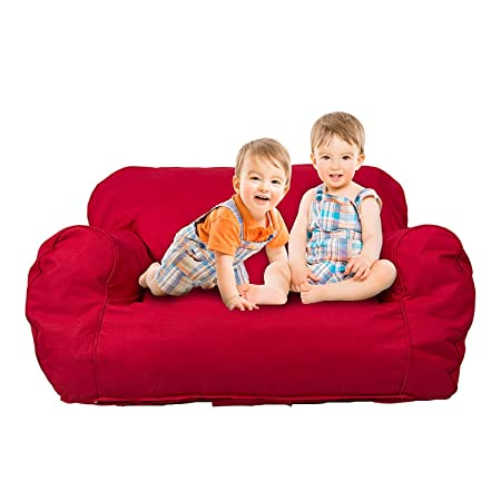 Livebest Soft Kids Bean Bag Chair Seat Toddler Memory Sponge Lounger Sofa Furniture,Bright Color Available for Boys and Girls