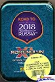 2018 Panini Adrenalyn XL Road to FIFA World Cup Russia Factory Sealed Collectors Tin with 4 Booster Packs & Limited Edition Card! Look for Superstars Including Messi, Ronaldo,Neymar Jr & More! WOWZZER