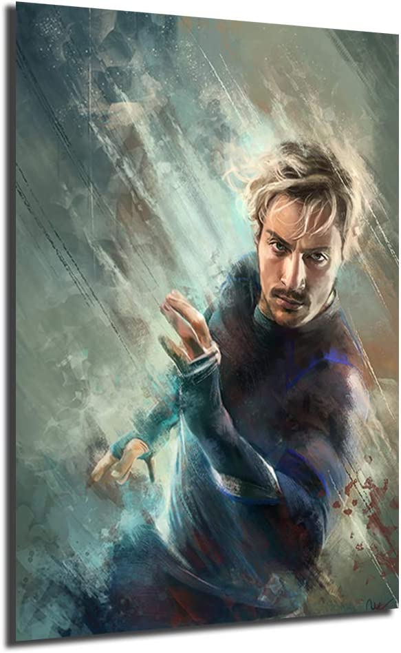 Quicksilver The Avengers Movie Poster Painting On Canvas Bedroom Wall Art Decoration Pictures Home Decor (Framed,12x18inch)