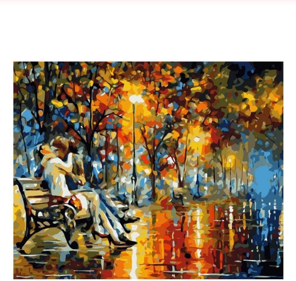 sdfgea Ark DIY Painting by Numbers Kissing Lover Oil Painting ...