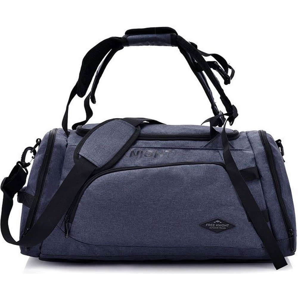 3-Way Fitness Sport 20-35L Gym Bag Travel Duffel Backpack with Shoes Compartment for Women Men Overnight Travel Tote Bag (Deep Gray)