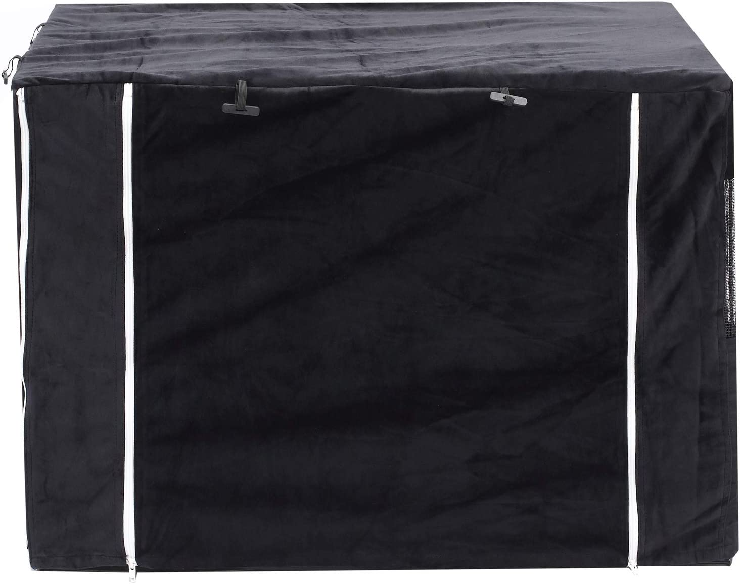 Polar Fleece Pet Kennel Cover Indoor Protection Black Cover only Brabtod 2 in 1 Dog Crate Cover for Wire Crates Cages Kennel Doubles as a Comfy Blanket XL