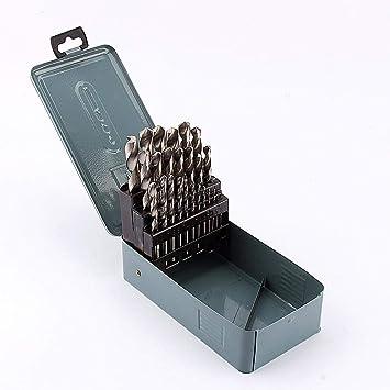 Juego de 25 brocas profesionales de metal HSS de alta calidad (estuche azul): Amazon.es: Bricolaje y herramientas