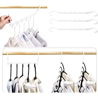 LTAU Black Magic Hangers Space Saving Clothes Hangers Organizer Smart Closet Space Saver Pack of 10 with Sturdy Plastic…