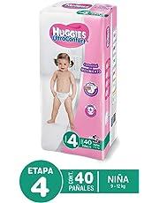 Huggies Pañal Desechable Ultraconfort para Niña, Etapa 4, 40 Cuentas