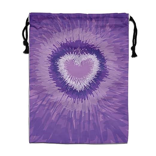 Rainbow textil morado corazón cordón bolsa saco ligero Yoga ...