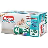 Huggies All Around, Pañales Unisex, Etapa 4, 40 Piezas