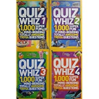 National Geographic Quiz Whiz Super Fun Mind-Bending Totally Awesome Trivia Questions - Set of 4 Books
