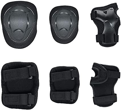 3 in 1 Protective Gear for Kids Knee Pads Elbow Pads Wrist Guards Protective Pad Set for Bike Rollerblade Skateboard Outdoor