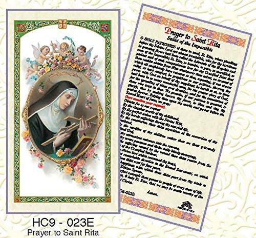 - St. Rita Paper Prayer Cards - Pack of 100 - HC9-023E-L
