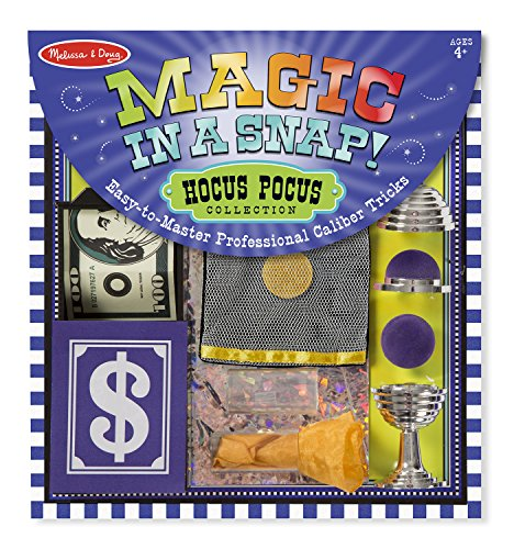 Melissa & Doug Magic in a Snap! Hocus Pocus Collection Magic Tricks Set (12 pcs) - Kid Magic Trick