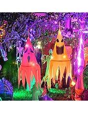 Halloween Decoraties 2 Stuks, Halloween Heksenhoed Decoratie, Halloween Hoed Verlicht, Heksenhoed Decoratie Led Tuin, Hangende Lichtgevende Heksenhoed Verlichting voor Tree Garden Halloween Decor