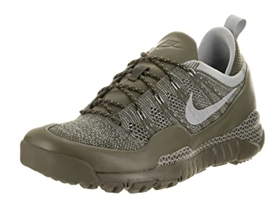 Nike Men s Lupinek Flyknit Low Casual Shoe  13 D(M) USCargo Khaki/Mica Green