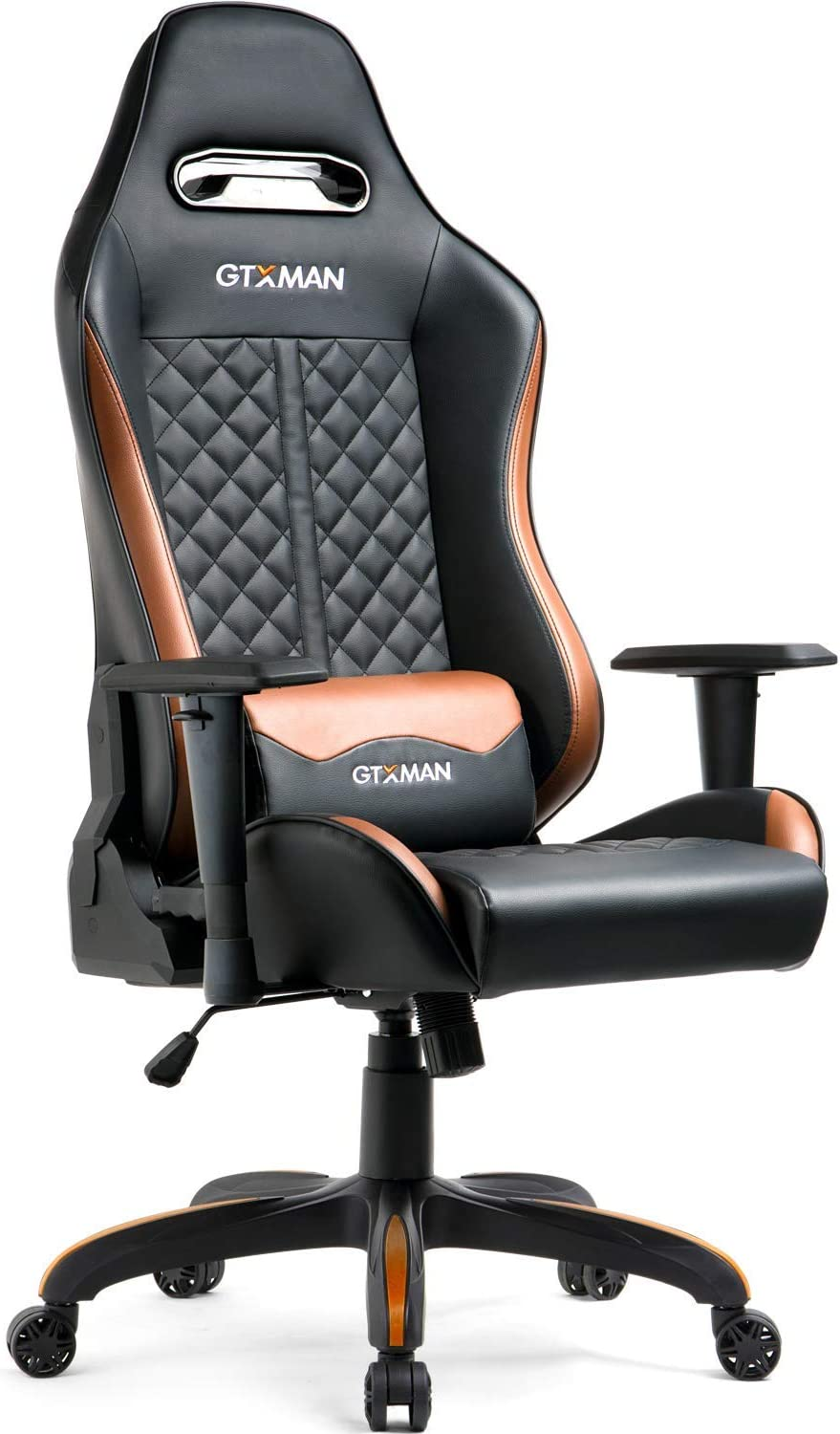 GTracing Premium Series Ergonomic Gaming Chair Adjustable Esports Chair, Large Size Premium PU Leather High-Back Executive Office Chair Brown