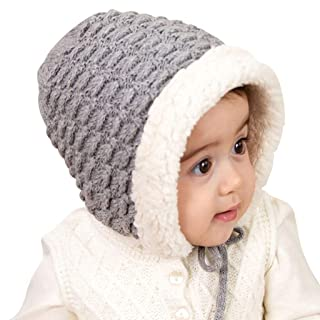 ShenZuYang Cappello in Maglia Cappello Autunno e Inverno Cappello per Bambini all'aperto Serie 100% Nylon di Alta qualità Materiale Forma Super Carina (Color : Gray, Size : 38cm-52cm)