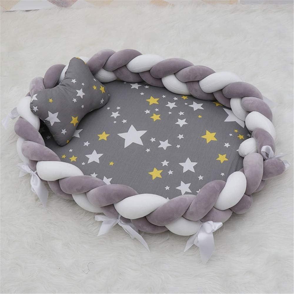 ベッドネストベビーベッド手織り持ち運びに健康で快適安全多機能新生児0-24ヶ月のフェージングなしのためのベビーバシネット