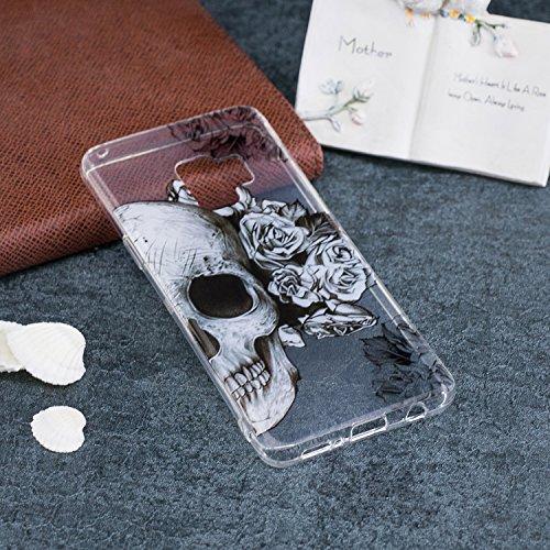 Cover para Samsung Galaxy S9 ( No coincide Samsung Galaxy S9 Plus ) , WenJie Cráneo Transparente Regalo de navidad Color sólido TPU Silicona Suave Funda Case Tapa Caso Parachoques Carcasa Cubierta par