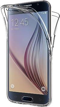 AICEK Funda Samsung Galaxy S6, Transparente Silicona 360°Full ...